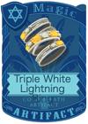 Triple White Lightning Ring