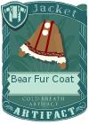 Bear fur coat brown
