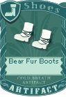 Bear fur boots