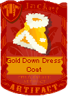 Gold down dress coat