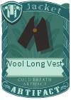 Wool Long Vest 1 Black