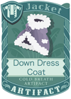 Down Dress Coat Grey