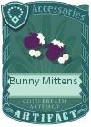 Bunny mittens purple