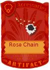 Rose Chain Black