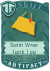 Swim Wear Tank Top Yellow