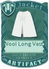 Wool Long Vest 4 White