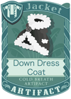 Down Dress Coat Black