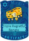 Triple Regretful Bangle