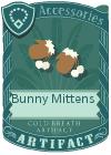 Bunny mittens mint