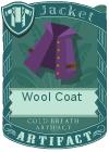 Wool coat collar purple