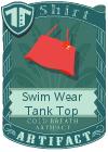 Swim Wear Tank Top Red