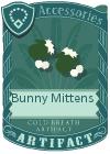 Bunny mittens green