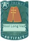 Wool Long Vest 3 Red