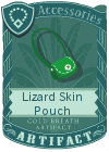 Lizard Skin Pouch Green