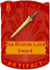 Zoa Bronze Long Sword