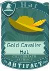 Gold Cavalier Hat Yellow