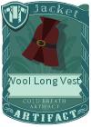 Wool Long Vest 2 Red