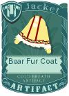 Bear fur coat yellow