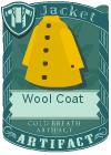 Wool coat yellow