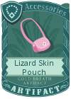 Lizard Skin Pouch Pink