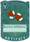 Bunny mittens brown