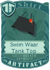 Swim Wear Tank Top Black