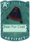 Bear fur coat black