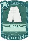 Wool Long Vest 3 White