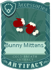 Bunny mittens red