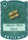 Alligator wrist band