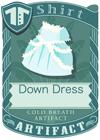 Down Dress Blue