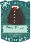 Wool kirtle black