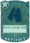 Wool Long Vest 1 Blue