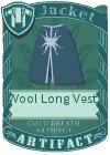 Wool Long Vest 4 Blue