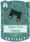 Bear Fur Pants Black