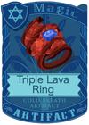 Triple Lava Ring