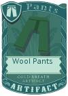 Wool pants green