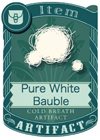 Pure White Bauble