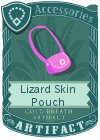 Lizard Skin Pouch Dark Pink