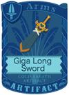Giga Long Sword Blue
