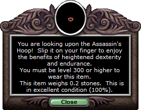 Test ring Assassinshoop