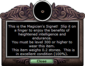 Test ring magiciansignet