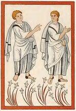 Evangeliar München 780-850, Emans Männer, trachtenkunstwer01hefn Taf.012b