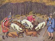 Sauhatz Stundenbuch Herzog von Berry 1412