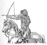 Französischer Bogenschütze 14.Jh, kriegswaffen00demmin p0890