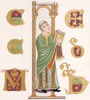 Priester, Evangeliar Darmstadt, 800-860, trachtenkunstwer01hefn Taf.013.jpg