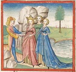 Cod. Pal. germ. 345, fol. 292r - Friedrich von Schwaben, Angelburg-Erlösung.jpg