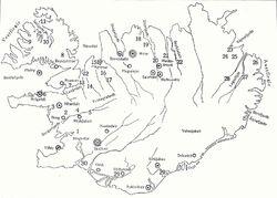 Islandsaga Schauplätze by Helgason, 1934
