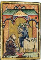 Vita sancti Cuthberti Beda Cuthbert and angel