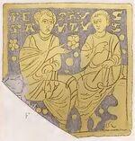 Glasscherbe, römisch 780-850, trachtenkunstwer01hefn Taf.012f